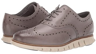 Cole Haan ZeroGrand Wing Ox Leather (Ironstone Leather Closed/Ivory) Men's Shoes