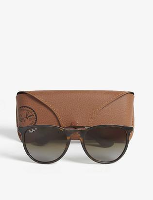 Ray-Ban RB4171 tortoise shell aviator sunglasses