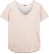 Monrow Distressed Cotton T-Shirt