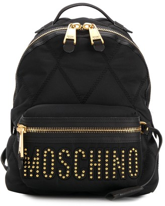 Moschino Studded Logo Backpack