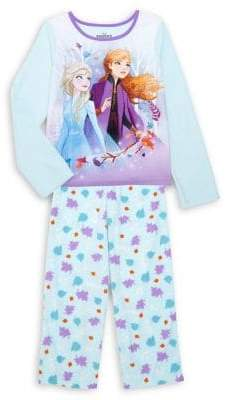 AME Sleepwear Girl's 2-Piece Disney's Frozen 2 Elsa & Anna Pajama Set
