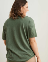 Aerie Boyfriend Distressed V-Neck Oversized T-Shirt