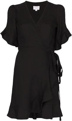 Honorine Edie wrapped front mini dress