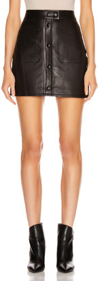 Frame Patch Pocket Skirt in Noir | FWRD