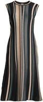 M Missoni Striped Sleeveless Midi Dress