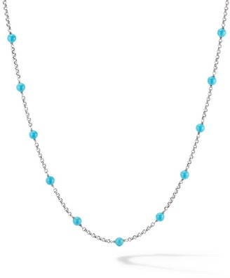 David Yurman Cable Collectibles Bead & Chain Necklace with Gemstone