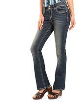 Juniors' Wallflower Luscious Curvy Embelished Bootcut Jeans