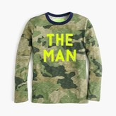 "J.Crew Boys' long-sleeve glow-in-the-dark ""the man"" T-shirt"