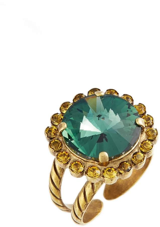 Sorrelli Haute Halo Crystal Cocktail Ring