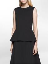 Calvin Klein Scuba Peplum Sleeveless Top