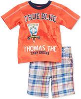 Nannette Toddler Boys' 2-Piece Thomas the Tank Engine Tee & Shorts