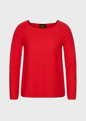Emporio Armani Sweater In 3D Jacquard