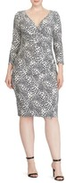 Lauren Ralph Lauren Plus Size Women's Shirred Print Jersey Sheath Dress