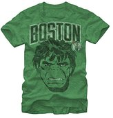 Marvel Mean Green Incredible Hulk Boston Celtics T-shirt