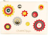 Charlotte Olympia patches zipped clutch - women - Calf Leather - One Size