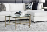 Joe Ruggiero Collection Athena Coffee Table Table Top Color: Nutmeg, Table Base Color: Textured Black, Table Top Material: Maple