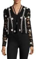 Alexis Cyndi Floral Applique Lace Top