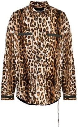 Mastermind World leopard-print shirt
