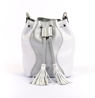 Atelier Hiva Mini Rivus Leather Bag Silver & White