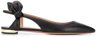 Aquazzura Bow Tie flat ballerina shoes