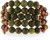 Nakamol Multi-Strand Beaded Cuff Bracelet, Agate/Pearl Mix