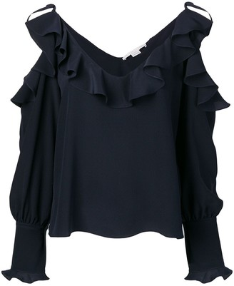 Stella McCartney ruffled cold-shoulder blouse