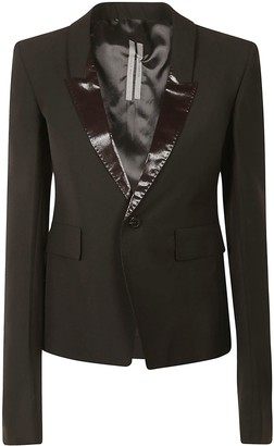 Rick Owens Single-buttoned Cropped Blazer