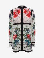 Alexander McQueen Floral Mandarin Collar Shirt
