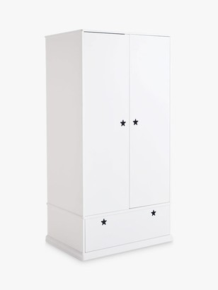 Great Little Trading Co Star Bright Double Wardrobe, White