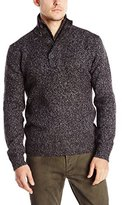 French Connection Men's Feltet Fleck Knits Funnel Neck Sweater