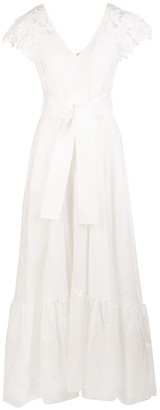 P.A.R.O.S.H. White Cofleur Woman Long Dress