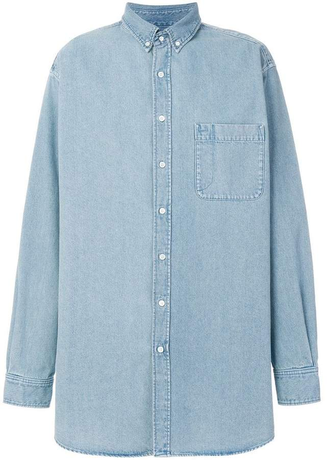 Balenciaga Bal Big Denim Shirt