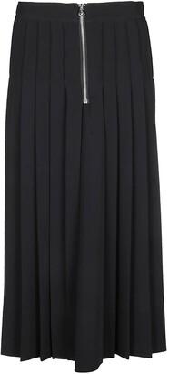 Calvin Klein Zip Detail Pleated Midi Skirt