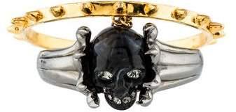 Alexander McQueen Skull Claw Double Bracelet