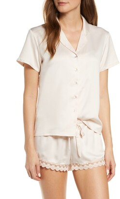 Flora Nikrooz Victoria Satin Short Pajamas