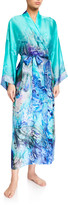 Christine Lingerie Floral Ombre Silk Long Robe