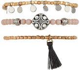Aeropostale Womens Tassel Beaded Bracelet 3-Pack