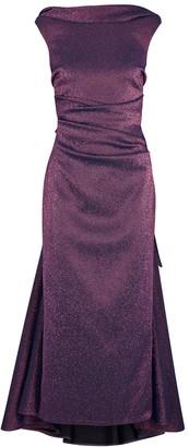 Talbot Runhof Tomislava1 Metallic Purple Stretch-gazar Gown