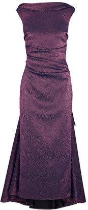 Talbot Runhof Tomislava1 metallic purple stretch-gazar gown