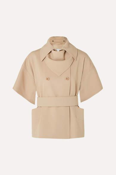 Max Mara Double-breasted Wool-twill Jacket - Cream