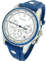 DKNY Women's NY8173 Blue Rubber Quartz Watch with Blue Dial