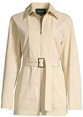 Lafayette 148 New York Allegra Belted Pima Cotton Jacket