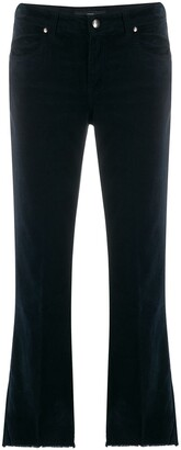 Fay Fringed Trim Flared Jeans