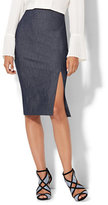 New York & Co. 7th Avenue Design Studio - Pencil Skirt - Front Slit - Modern Fit - Grand Sapphire