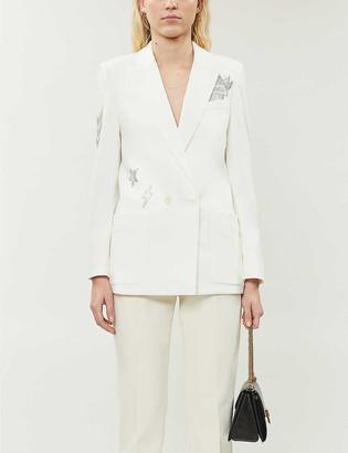 Zadig & Voltaire Visko Strass embellished woven blazer