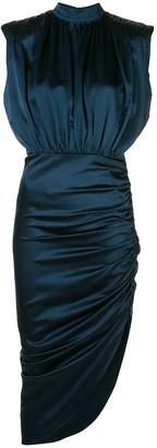 Veronica Beard draped asymmetric midi dress
