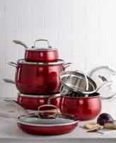 Belgique Belgique Red Translucent 11-Pc. Cookware Set