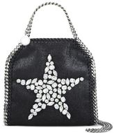 Stella McCartney black falabella crystal stones star tiny tote