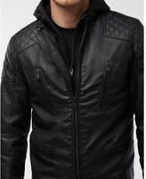 Express quilted system biker jacket