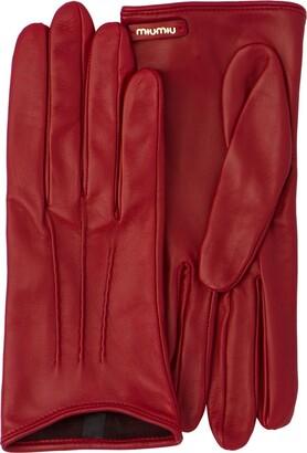 Miu Miu Logo Plaque Gloves